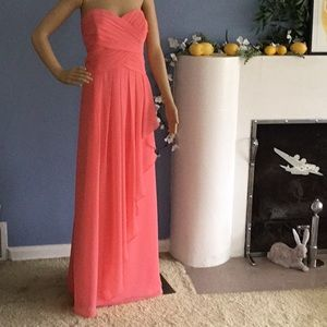 NWT Peach or coral colored gown!